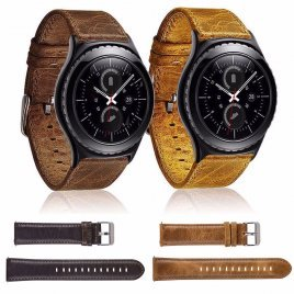 22mm Genuine Leather Strap Classic Bracelet Band Watch Band for Samsung Gear S3 Frontier S3 Team