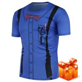 3D Suspenders Pattern T-Shirt