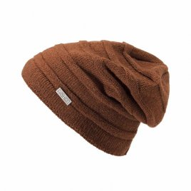 Fashion Letter Pattern Solid Color Plus Velvet Winter Ear Protection Windproof Wool Knit Hat for Men Women