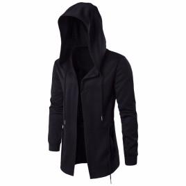 Fashion Men Hooded Sweatshirts Hip Hop Mantle Hoodies Jacket Long Sleeve Cloak Male Coat Outwear Hooded Costume
