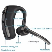V8 Bluetooth Headset V4.1 Hands-free Mic Wireless Headphones Voice Control